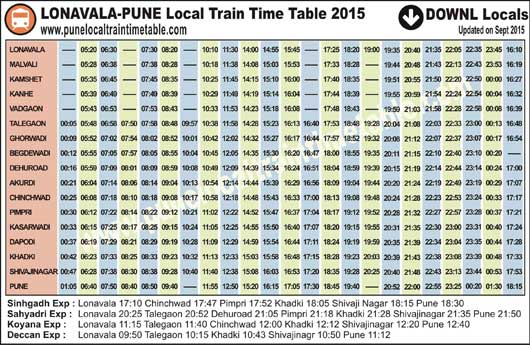 2015 timetable pdf local lonavala pune